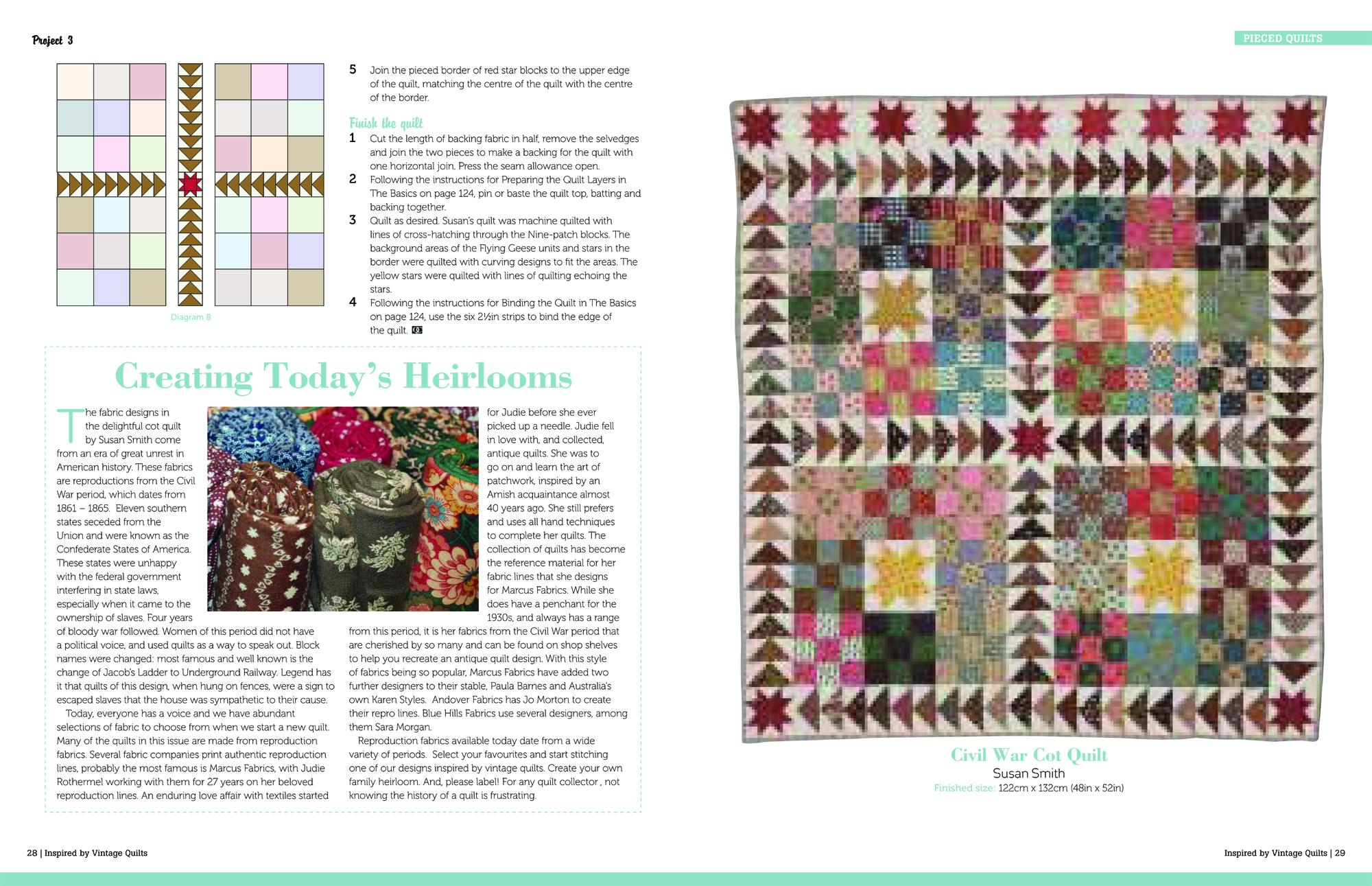 Vintage Quilts_CIVIL WAR COT QUILT