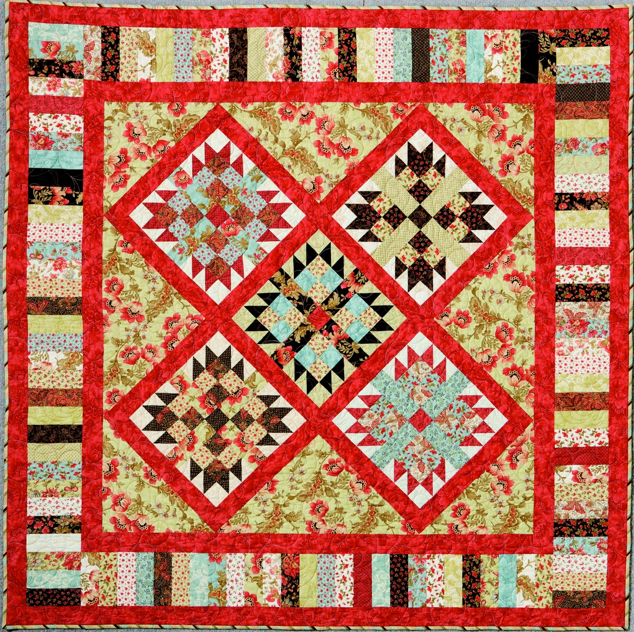 Learn how to make Katrina's Jelly Friends quilt on this issue's DVD.